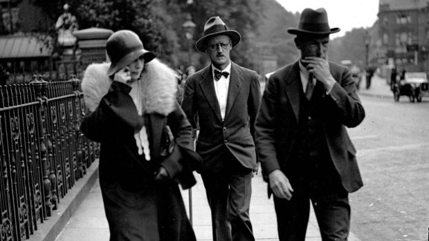 London, July 4th, 1931: James Joyce after his Kensington register office wedding to Nora Barnacle. Photograph: Popperfoto/Getty Images)