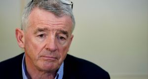 "Ryanair chief executive Michael O'Leary: Chief medical officer Tony Holohan and Minister for Health Simon Harris will be crushed under a ""stampede"" of Irish families rushing to go on foreign holidays.  Photograph: Kenzo Tribouillard/AFP"