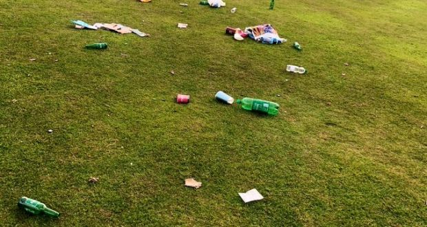 Example of littering in a Fingal park. Photograph: Fingal County Council
