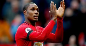 Manchester United have extended Odion Ighalo's loan deal from Shanghai Shenhua until January 31st, the Premier League club have announced. Photo: Martin Rickett/PA Wire