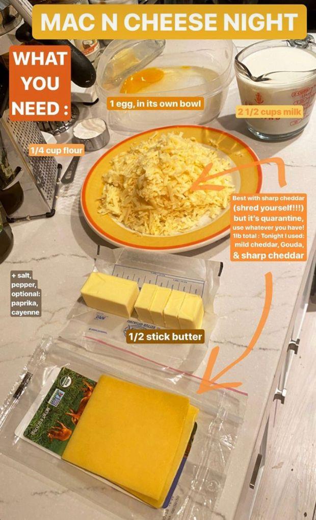 Tres tipos de queso: la receta de macarrones de Gigi Hadid. Fotografía: Instagram / @ gigihadid