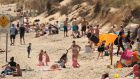 Brittas Bay beach in Co Wicklow on Monday, the hottest day of the year so far. Photograph: Niall Carson/PA