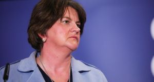 "First Minister Arlene Foster said the DUP motion addressed the ""distressing issue"" of the abortion of foetuses with Down's syndrome. Photograph:  Kelvin Boyes/Press Eye/PA"