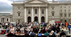 Trinity College Dublin during  Freshers Week. Photograph: David Sleator/The Irish Times