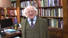 President Higgins records message of hope and thanks for primary school students