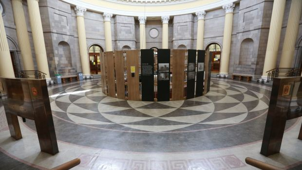 Round hall in the Four Courts: Remote hearings are becoming the norm in many areas of the court system. Photograph: Laura Hutton