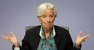 President of the European Central Bank Christine Lagarde. The ECB is due to update its own forecasts on Thursday
