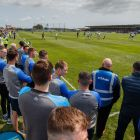 Waterford players watch the minor game ahead of the round-robin game against  Limerick at Walsh Park last June. Photograph: Oisín Keniry/Inpho