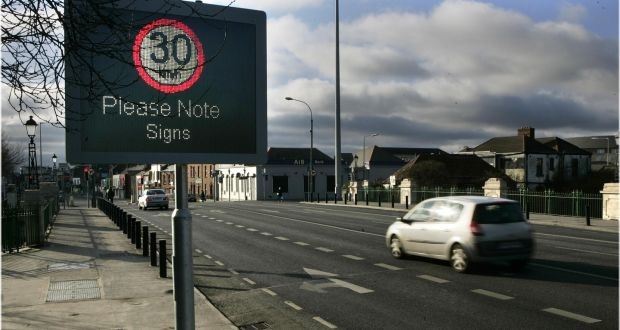 The low speed limit will apply to roads which previously allowed speeds of 50km/h and 80km/h . Photograph: Dara Mac Dónaill