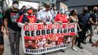 Protesters march in honour of George Floyd on June 2nd, 2020 in Houston, Texas. Photograph: Sergio Flores/Getty