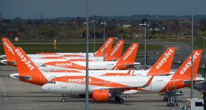 Easyjet was among the travel stocks to rise on equity markets on Wednesday. Photograph: Nick Ansell/PA