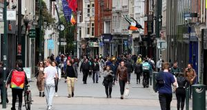 Dublin City Council's Covid-19 queuing rules are designed to prevent overcrowding on the city's shopping streets, particularly pedestrianised areas such as Henry Street and Grafton Street (above).  Photograph: Brian Lawless/PA Wire