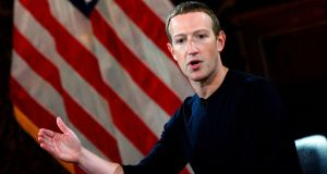 Facebook founder Mark Zuckerberg has defended his decision not to interfere with posts by US president Donald Trump. File photograph: Andrew Caballero-Reynolds/AFP via Getty Images