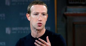 Facebook founder Mark Zuckerberg. File photo. Photograph: Andrew Caballero-Reynolds/AFP via Getty