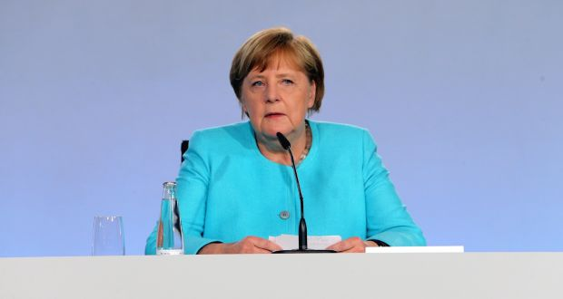 "Chancellor Angela Merkel said the fact that Germany had seven million temporarily furloughed workers ""shows how fragile the situation is"". Photograph: Getty"
