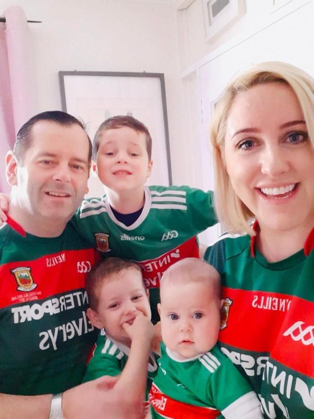Dr Lisa Guthrie with her husband Bernard and three children Cathal (6) Cuan (4) and Feile (15 months):