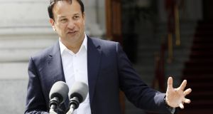 Taoiseach Leo Varadkar: said nobody who was working full-time before the pandemic will see their unemployment payment cut. Photograph: EPA