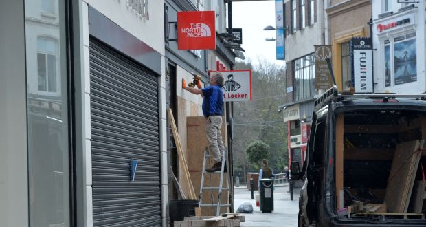 The National Public Health Emergency Team met today and is recommending that some larger retailers be allowed open next week as long as they have entrances onto the street. Photograph: Alan Betson / The Irish Times