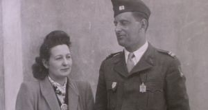 Cécile Rol-Tanguy in an undated photo with her husband, Henri, a resistance fighter for whom she acted as a clandestine liaison officer. Photograph: Daniel Giry/Sygma, via Getty Images