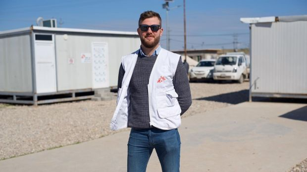 Alex Dunne, humanitarian officer for Médecins Sans Frontières humanitarian in Iraq
