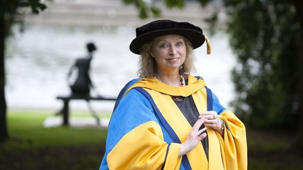 Historical novelist Hilary Mantel was awarded an Honorary Degree of Doctor of Literature by UCD in 2016. File photograph: Dave Meehan