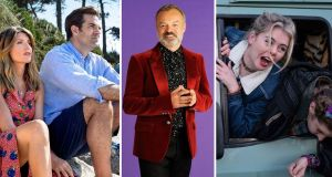 Bafta nominees: Catastrophe, The Graham Norton Show and Derry Girls. Photographs: Channel 4 and BBC