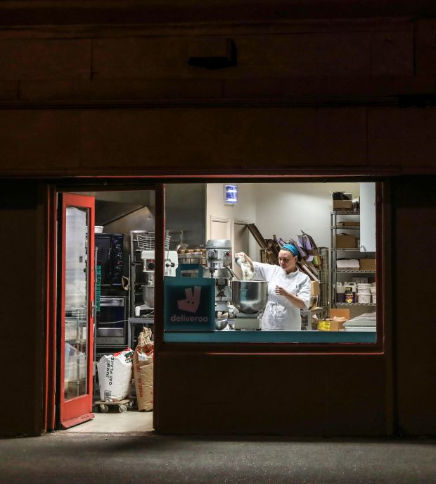 Cara Lloyd baking through the night to supply her Corner Bakery in Terenure. Photograph: Crispin Rodwell