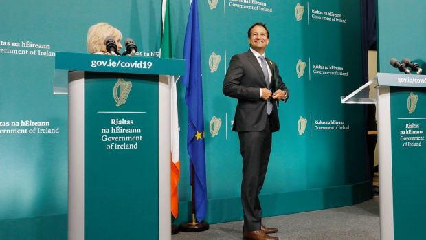 "Taoiseach Leo Varadkar: ""We are making progress. We are heading in the right direction."" Photograph: Leon Farrell/Photocall Ireland/PA"