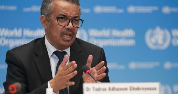 WHO Director-General Tedros Adhanom Ghebreyesus. Photograph:  Christopher Black/World Health Organization/AFP via Getty Images