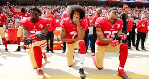 NFL Commissioner Roger Goodell issued a video statement during which he stated that the league was wrong in its past attempts to try to silence player's peaceful protests. Photograph: EPA