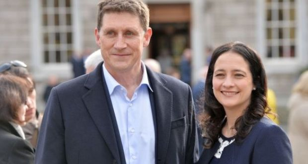 Green Party leader Eamon Ryan with his deputy, Catherine Martin. File photograph: Alan Betson