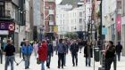 People on Grafton Street in Dublin on Sunday. Photograph: Brian Lawless/PA Wire