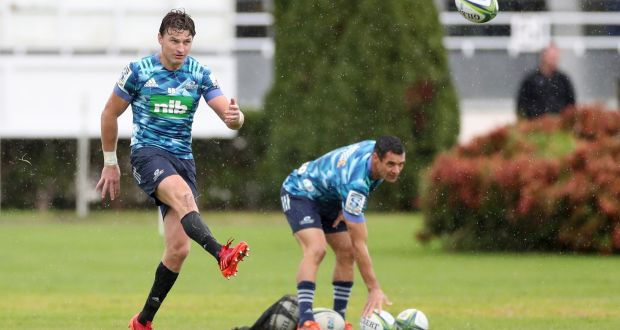 Beauden Barrett is set to make his Blues debut against the Hurricanes on Sunday. Photograph: Hannah Peters/Getty