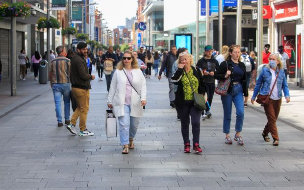 Shopping reopens: Henry Street today. Photograph: Gareth Chaney/Collins