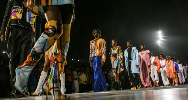 New York Fashion Week: A Pyer Moss show in September 2019. Photograph: Dolly Faibyshev/New York Times
