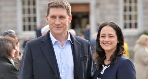 Green Party leader Eamon Ryan and deputy leader Catherine Martin: some in the party feel the timing of leadership challenge is not ideal. Photograph: Alan Betson / The Irish Times