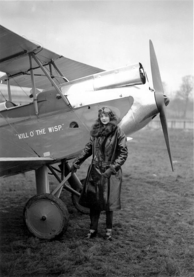 Adelaide Pollock married into the wealthy Belfast Cleaver family. In 1929 she bought her own open-cockpit aircraft and undertook a return journey to India.
