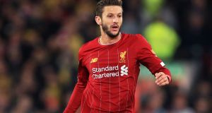 Adam Lallana has signed a short-term deal until the end of the season before ending his time with Liverpool. Photograph: Mike Egerton/PA Wire