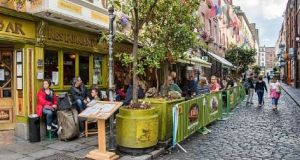 The Oliver St John Gogarty in Temple Bar, Dublin. Until now the use of public space by cafes, restaurants, pubs and other businesses has been highly regulated by Dublin City Council. File photograph: Getty