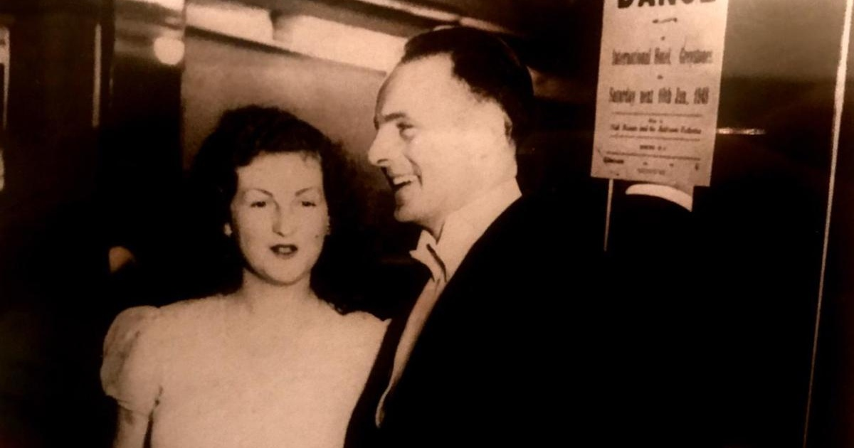 Mildred and Daniel Kennedy at a dress dance in Greystones around 1948: Daniel visited his wife in the nursing home every day, for hours, and she always knew him and enjoyed his company.