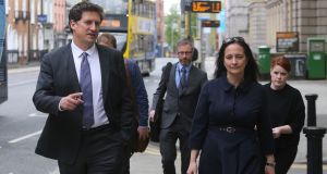 Green Party leader Eamon Ryan with deputy leader Catherine Martin: Prompting another general election would be an extraordinary gamble for the Greens. Photograph: Gareth Chaney/Collins