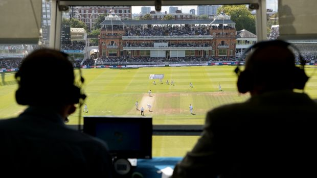 Jonathan Agnew and Geoffrey Boycott (R) on TMS duty at Lord's in 2017. Photograph: Gareth Copley/Getty