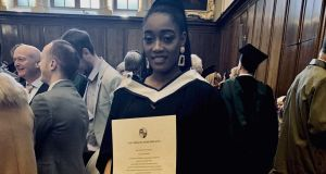 Christelle Bekombo, a French teacher at Le Chéile Secondary School in Tyrrelstown, northwest Dublin, is one of the few black teachers in the Irish education system.