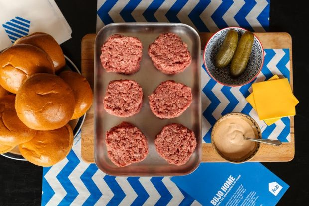 The DIY burger kit from Bujo in Sandymount