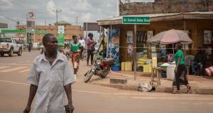 Sir Samuel Baker Road in Gulu, northern Uganda, is named after a British explorer who is said to have laid the foundations for colonialism. Photograph: Sally Hayden