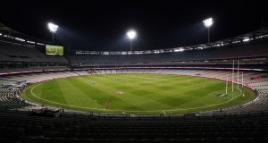 AFL games are currently being held with no spectators due to the coronavirus outbreak. Photograph: EPA