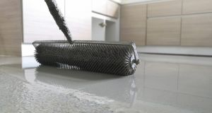 Self-leveling concrete is typically used to create a flat and smooth surface with a compressive strength similar to or higher than that of traditional concrete prior to installing interior floor. Photograph: iStock