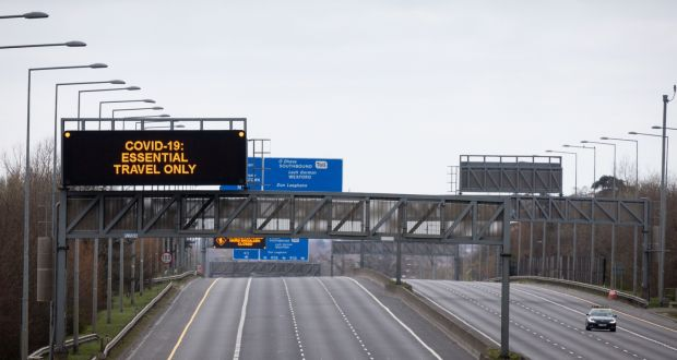 The M50 in Dublin in late March. Photograph: Tom Honan