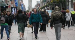 Shoppers on Henry Street  Dublin on Friday. Photograph: Gareth Chaney/Collins