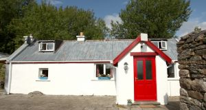 The 150-year-old cottage is  on the Mayo side of the Ox Mountains and has had offers up to €90,000.